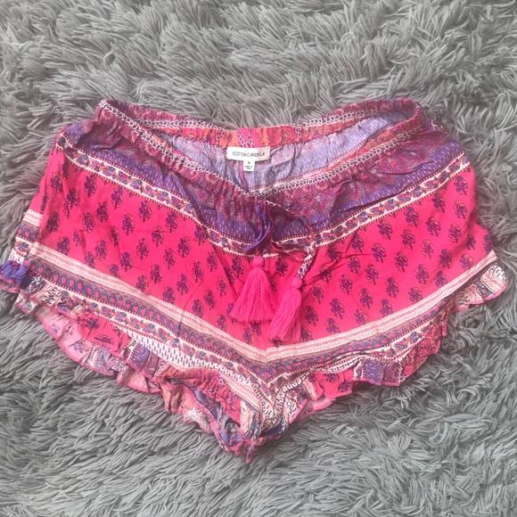 Cotton Candy Pants - COTTON CANDY LA | Aztec Ruffle Shorts